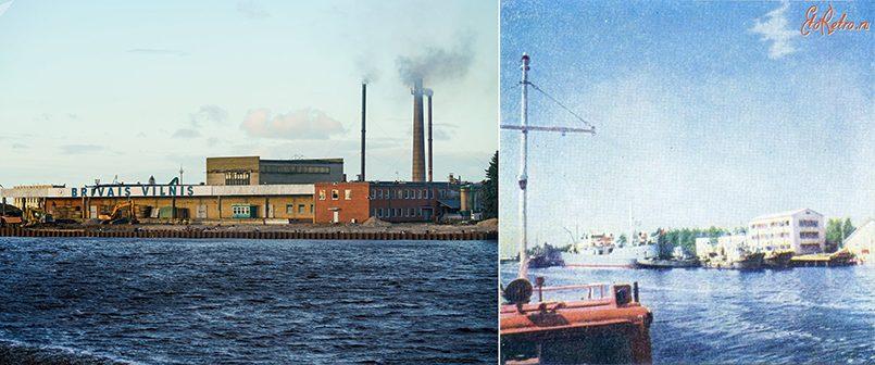 Слева направо: Фабрика «Бривайс вилнис», предшественником которой был знаменитый латвийский колхоз | Гавань рыболовецкого колхоза Узвара, Юрмала