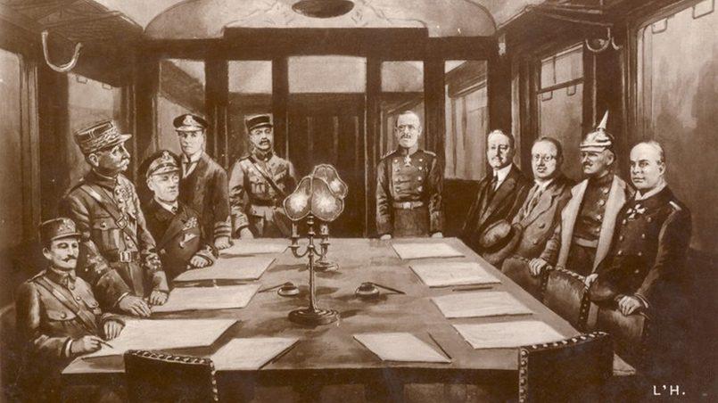 По условиям Компьенского мира немецкий военный контингент должен был оставаться на территории Прибалтики