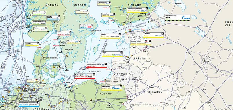 Морские терминалы по приему сжиженного газа (карта) / Фото: VGil journal