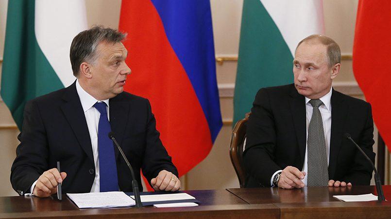 Виктор Орбан и Владимир Путин / Фото: azertag.az