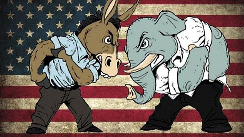 Схватка слона с ослом, корректура на предвыборную борьбу в парламент США / Фото: e-news.su