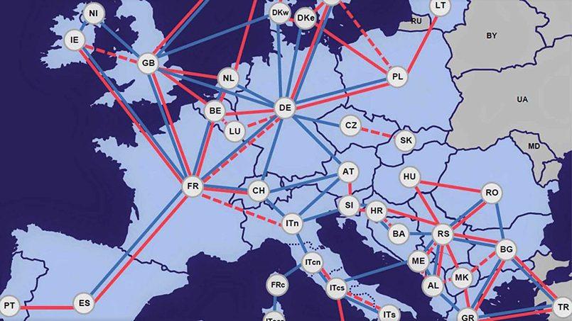 Проект ENTSO E объединит энергосистемы 36 государств Европы. Фото: tscnet.eu