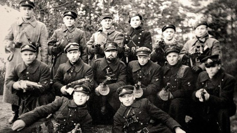 Участники первых литовских партизанских отрядов в начале нацистской оккупации