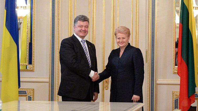 Даля Грибаускайте и Петр Порошенко / Фото: Delfi