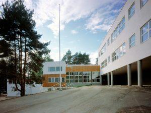 Начальная школа в городе Коувола, Финляндия. Архитектор: Алвар Аалто. Фото: Maija Holma / Alvar Aalto Foundation
