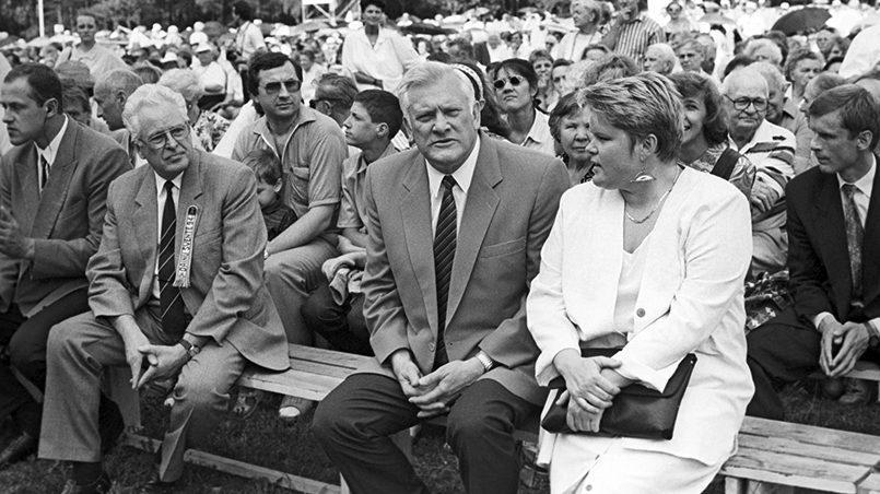 Algirdas Brazauskas su dukra, 1994 m. / Nuotr.: 15min.lt