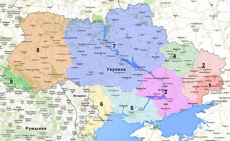 Под номером 9 — Закарпатская область / Фото: voicesevas.ru