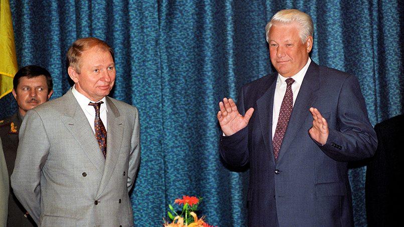 Леонид Кучма и Борис Ельцин / Фото: Газета.Ру