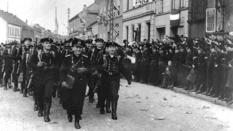 Немцы возвращаются в Мемель, 1939 г.