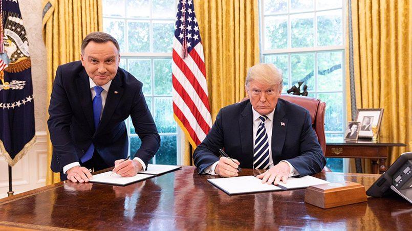 Президенты Польши и США Анджей Дуда и Дональд Трамп / Фото: gazeta.ru