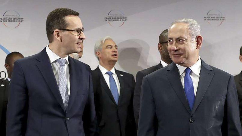 Премьер-министр Польши Матеуш Моравецкий и премьер-министр Израиля Беньямин Нетаньяху / Фото: AP Photo/ ТАСС