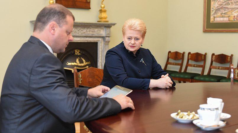 Президент Д. Грибаускайте, премьер-министр С. Сквернялис / Фото: regnum.ru