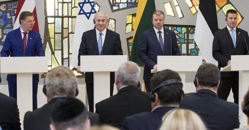 Пресс-конференция Биньямина Нетаньяху с премьер-министрами трех Прибалтийских республик / Фото: pravdanews.info
