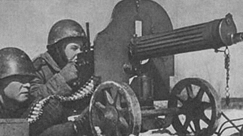 Пулемётчики 16-й стрелковой Клайпедской Краснознамённой дивизии