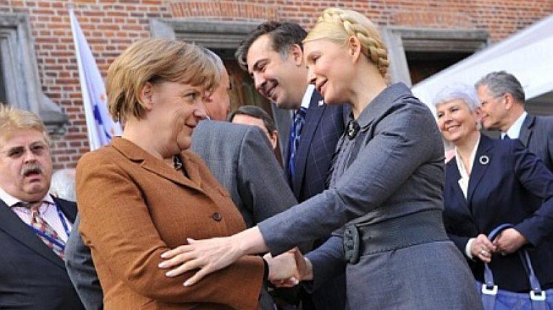 Ангела Меркель и Юлия Тимошенко / Фото: Новости Украины