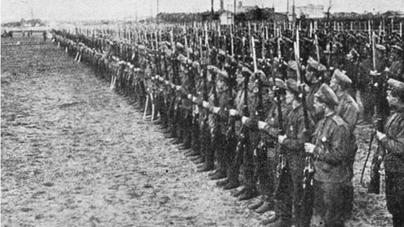 Парад латышских стрелков