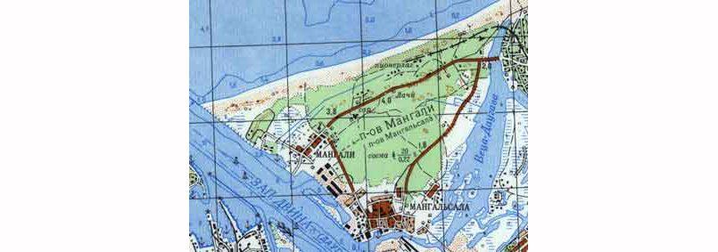 Полуостров Мангали, Рига. Место расположения бывшего колхоза «9 мая»