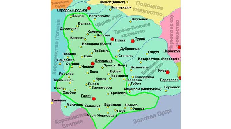 Галицко-волынское княжество, ставшее впоследствии окраиной, а затем культурно-национальной основой Украиной