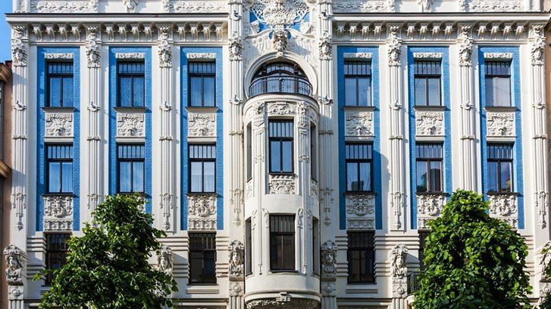 Здание в стиле модерн в Риге / Фото: avatars.mds.yandex.net