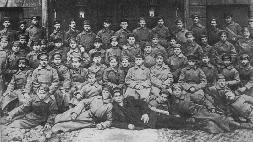 Стрелки 6-го латышского полка в Петрограде