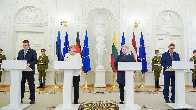 Меркель в Вильнюсе встретилась с лидерами стран Балтии / Фото: Sputnik Литва