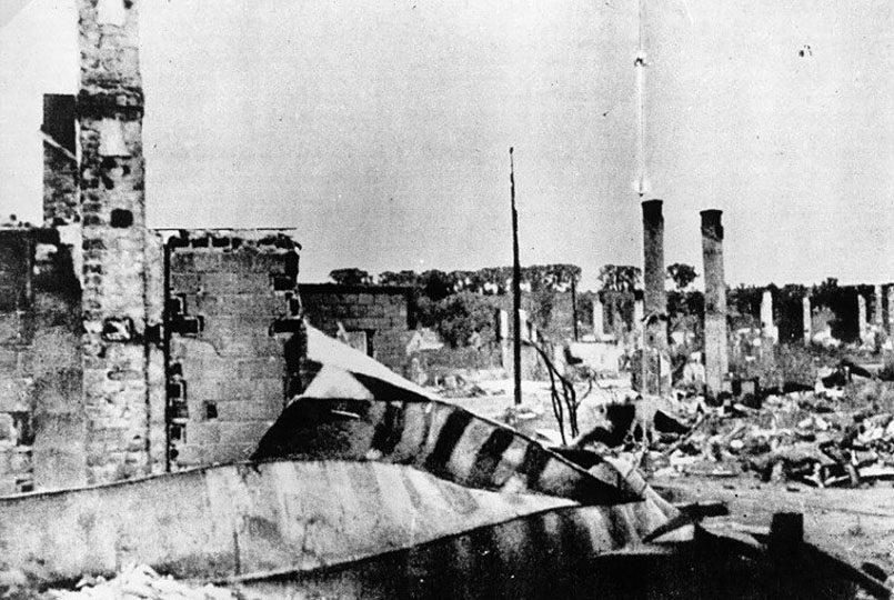 Руины Каунасского гетто