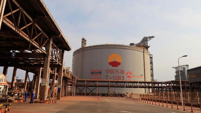 Резервуар для хранения СПГ, Китай. Фото: qz.com