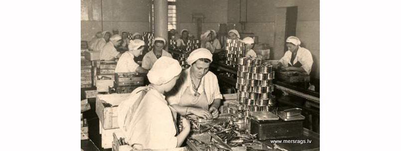 Работа на колхозном предприятии в Мерсрагсе