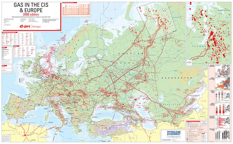 Европейская газовая паутина /Источник изображения: i.telegraph.co.uk