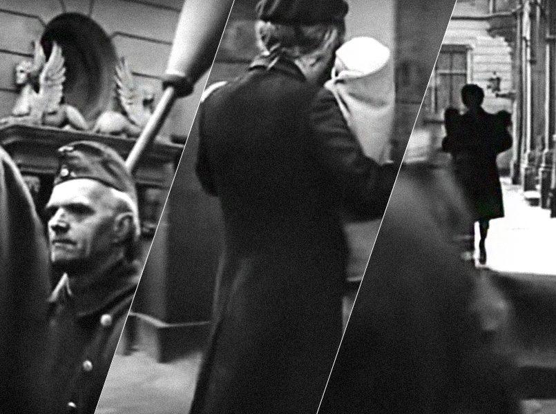 Улица Зиргу, дом со сфинксами   Радистка Кэт пересекла улицу Зиргу   Радистка Кэт с двумя младенцами идет от Малой гильдии