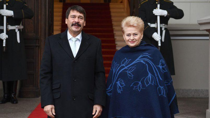 Янош Адер и Даля Грибаускайте / Фото: sputniknews.lt