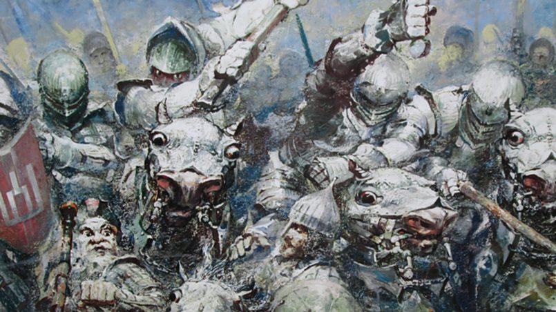 Фрагмент картины «Битва под Оршей» украинского художника Андрея Холоменюка / Фото: belsat.eu