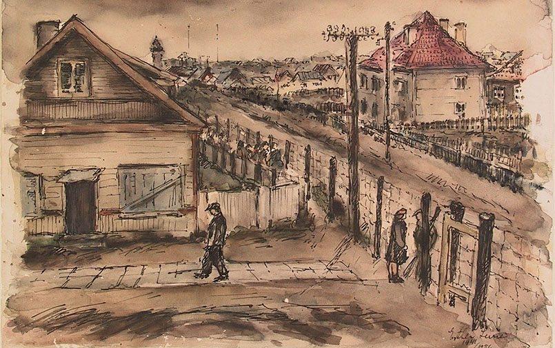Эстер Лурье (1913–1998). Рисунок Вильямпол, Каунасское гетто