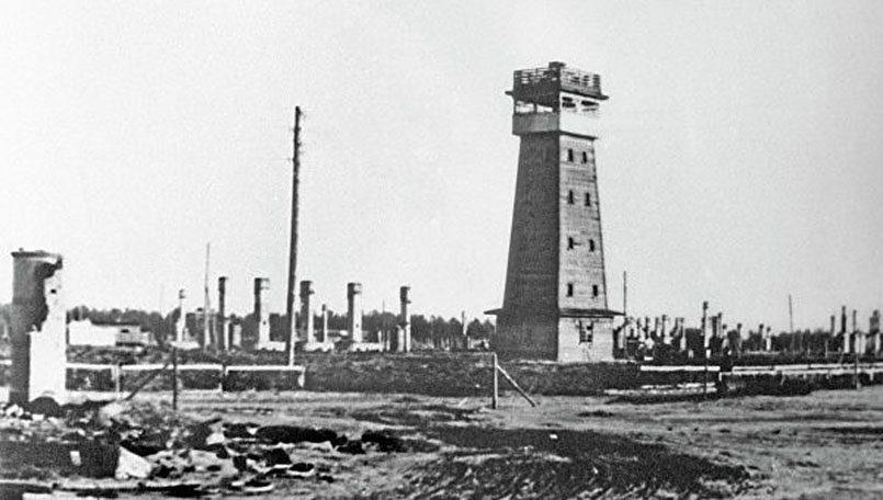 Саласпилсский концлагерь после ликвидации