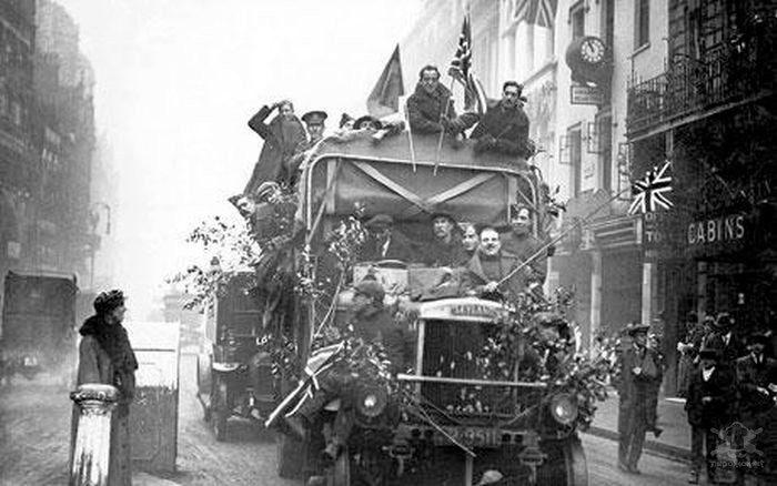 Празднование конца Первой мировой войны / Фото: pirojok.net