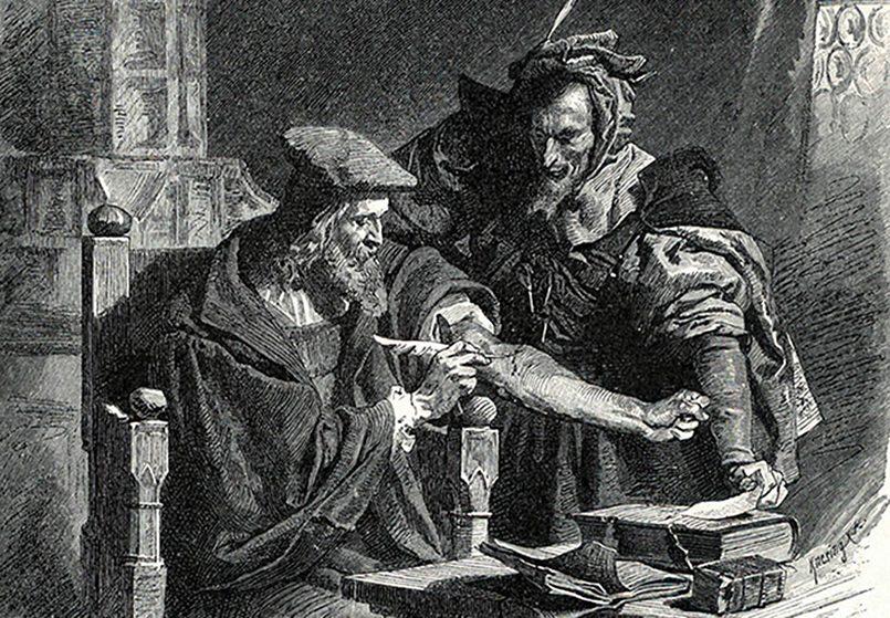 Доктор Фауст, один из известнейших магов-естествоиспытателей средневековой Германии