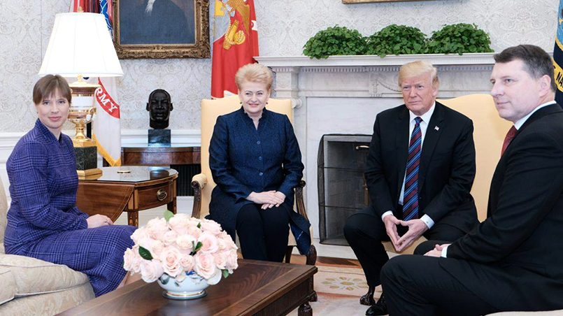 Дональд Трамп на встрече с лидерами стран Балтии / Фото: mignews.ru