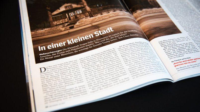 Статья Клааса Релотиуса о Фергус Фолс / Фото: Spiegel Online