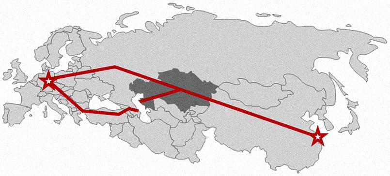 Железнодорожные соединения между Дуйсбургом и Шанхаем через Казахстан / Фото: forbes.kz
