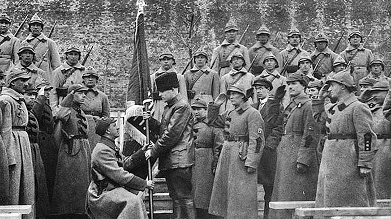 Всенародный День Красной армии, 1922 год. Фотограф: Петр Адольфович Оцуп