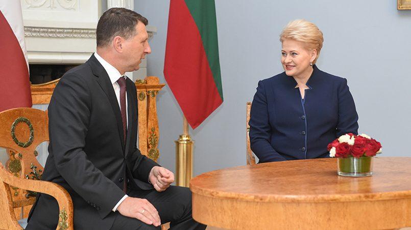 Президенты Латвии и Литвы Раймонд Вейонис и Даля Грибаускайте / Фото: lrp.lt
