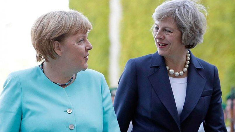 Ангела Меркель и Тереза Мэй / Фото: Фокус