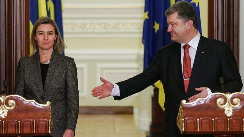 Федерика Могерини и Петр Порошенко / Фото: PolitRussia.com