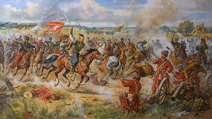 Картина «Конотопская битва» Артура Орлёнова