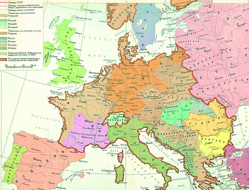 Карта Европы к 22 июня 1941 года / Фото: aagokeh.xn