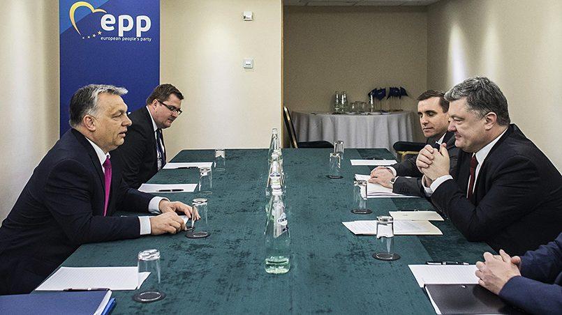 Виктор Орбан и Петр Порошенко / Фото: nrt24.ru