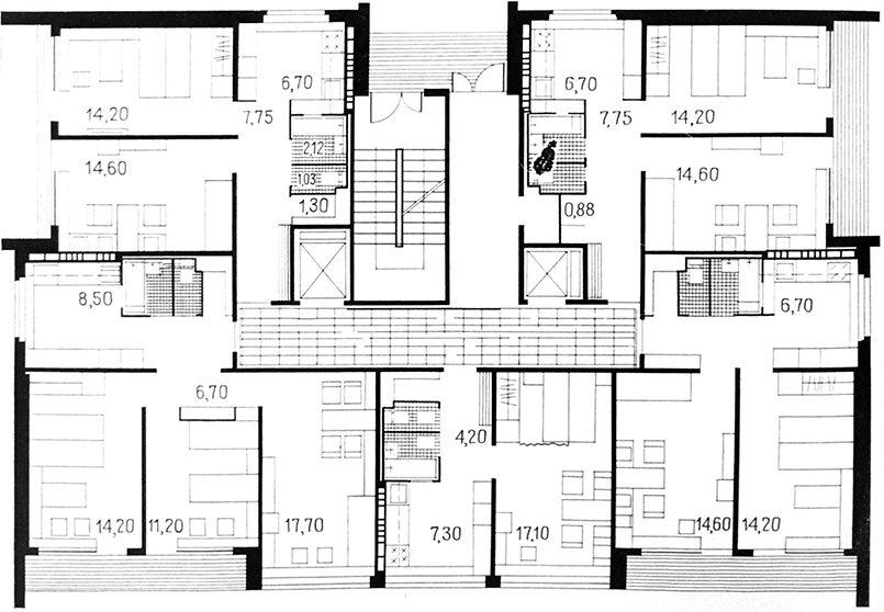 Планировка квартир, рис. 1
