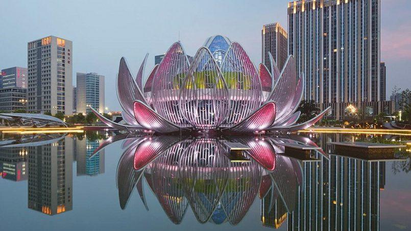 Выставочный центр «Лотос» в городе Чанчжоу (Китай) / Фото: domostroynn.ru