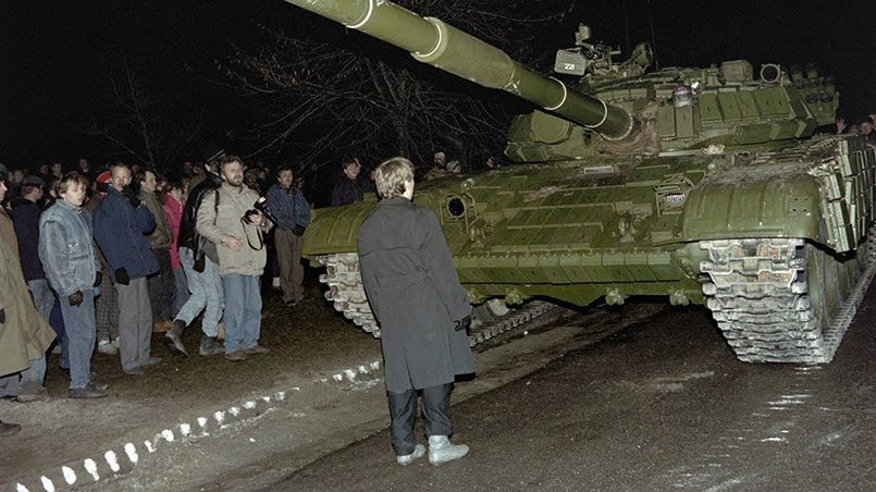 Столкновения в Вильнюсе 13 января 1991 года / Фото: youtube.com