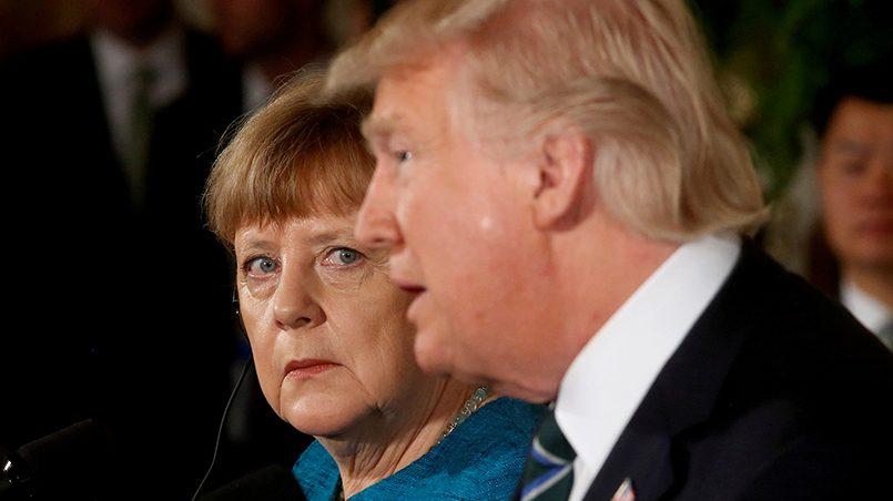 Ангела Меркель и Дональд Трамп / Фото: moscow-baku.ru